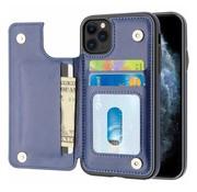 ShieldCase® Wallet case iPhone 12 Pro - 6.1 inch (blauw)