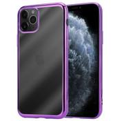 ShieldCase® Metallic bumper case iPhone 12 Pro - 6.1 inch (paars)