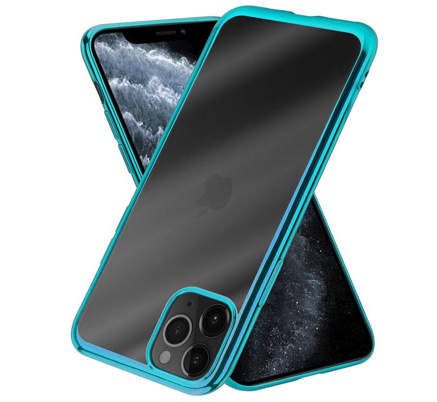 ShieldCase Metallic bumper case iPhone 12 Pro - 6.1 inch (groen)