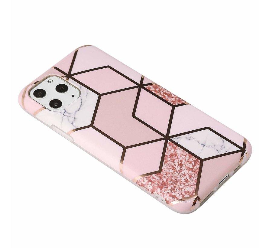 ShieldCase Pink Pattern iPhone 12 Pro - 6.1 inch hoesje  (roze)