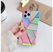 ShieldCase® Rainbow Pattern Marmer iPhone 12 Pro - 6.1 inch hoesje
