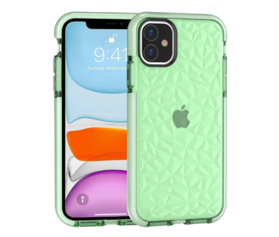 ShieldCase® ShieldCase You're A Diamond iPhone 12 Mini - 5.4 inch hoesje (groen)