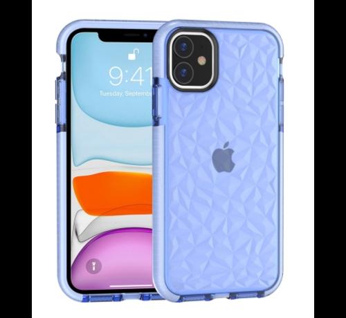 ShieldCase® ShieldCase diamanten case iPhone 12 Mini - 5.4 inch (blauw)