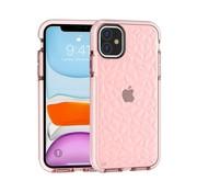 ShieldCase® Diamanten case iPhone 12 - 6.1 inch (roze)