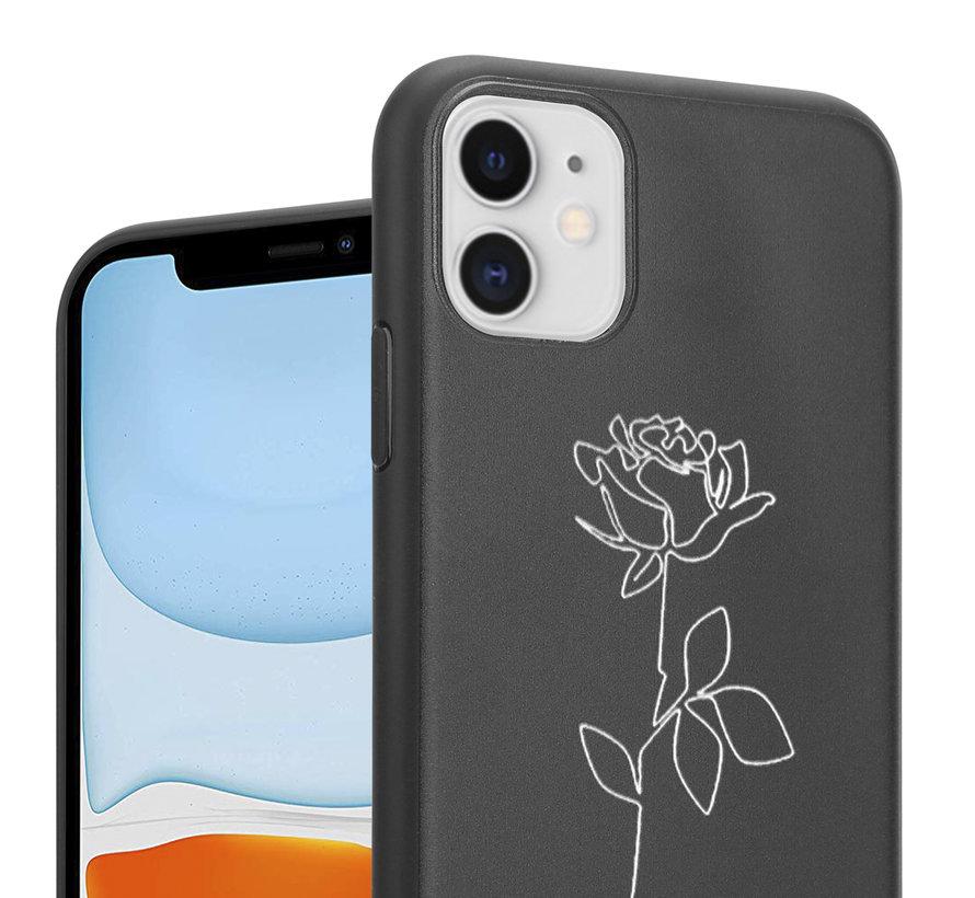 ShieldCase iPhone 12 Mini - 5.4 inch hoesje met witte roos