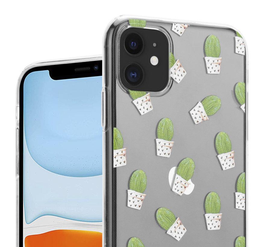 ShieldCase iPhone 12 Mini - 5.4 inch hoesje met cactuspatroon
