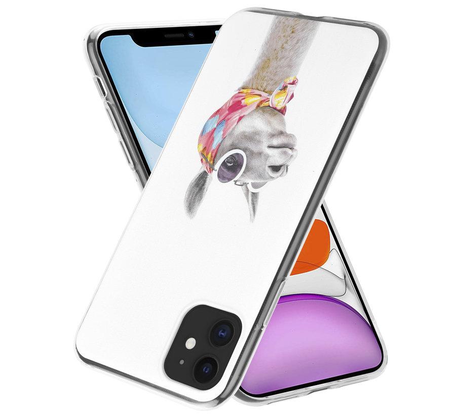 ShieldCase iPhone 12 Mini - 5.4 inch hoesje met lama print
