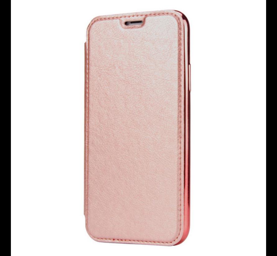 ShieldCase gegalvaniseerde flip case iPhone 12 Pro - 6.1 inch (roze)