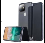 ShieldCase® Gegalvaniseerde flipcase iPhone 12 Mini - 5.4 inch (zwart)