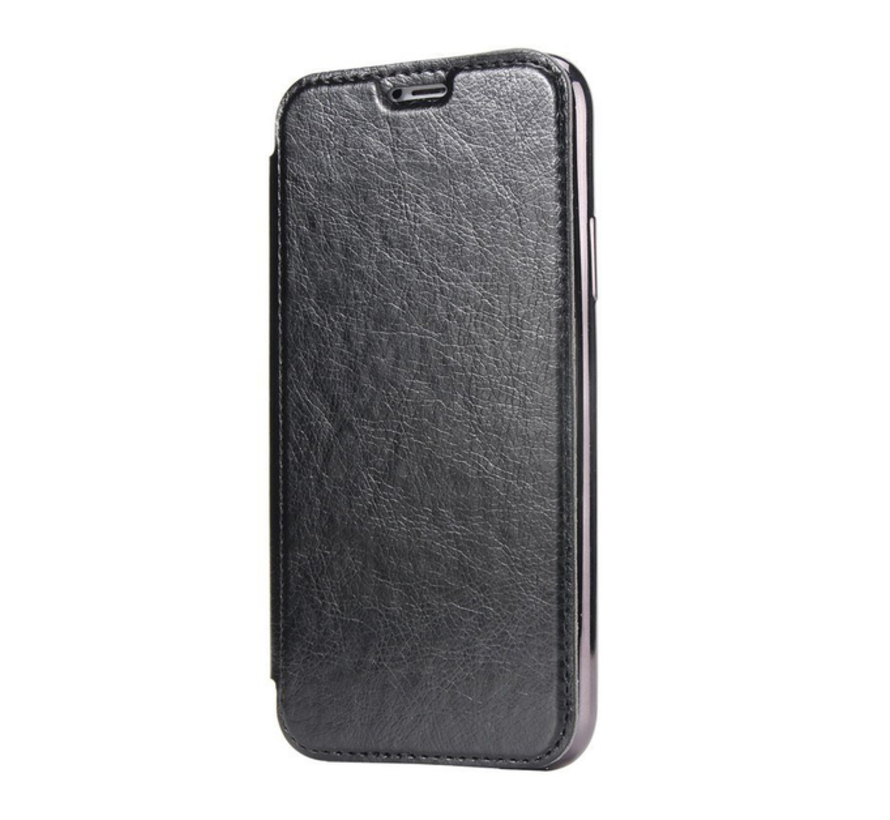 ShieldCase Gegalvaniseerde flip case iPhone 12 Mini - 5.4 inch (zwart)