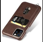 ShieldCase® Vintage case met pashouder iPhone 12 Pro - 6.1 inch (bruin)