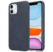 ShieldCase® iPhone 12 Mini - 5.4 inch hoesje leer (zwart)