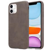 ShieldCase® iPhone 12 Mini - 5.4 inch hoesje leer (bruin)