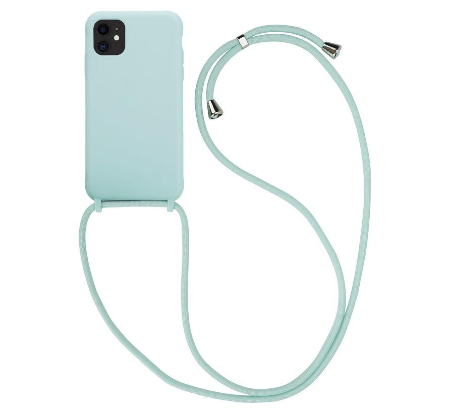 ShieldCase Magic Mint iPhone 12 Pro - 6.1 inch hoesje met koord (mint)