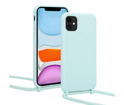 ShieldCase® ShieldCase Magic Mint iPhone 12 Pro Max 6.7 inch hoesje met koord (mint)