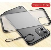 ShieldCase® iPhone 12 Mini - 5.4 inch slim case met bumpers (zwart)