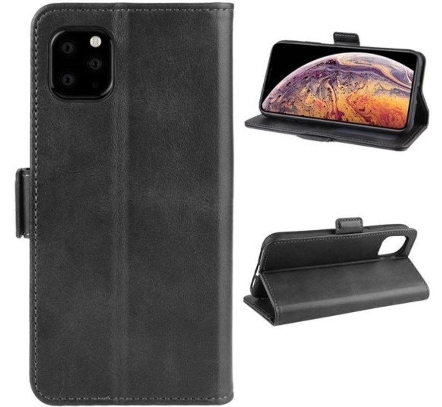 ShieldCase Leren Bookcase iPhone 12 Pro - 6.1 inch (zwart)