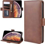 ShieldCase® Leren Bookcase iPhone 12 Mini - 5.4 inch (bruin)