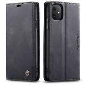 CaseMe Luxe bookcase iPhone 12 Mini - 5.4 inch (zwart)