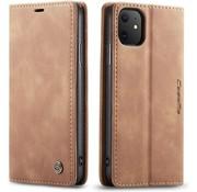 CaseMe Luxe bookcase iPhone 12 Mini - 5.4 inch (bruin)