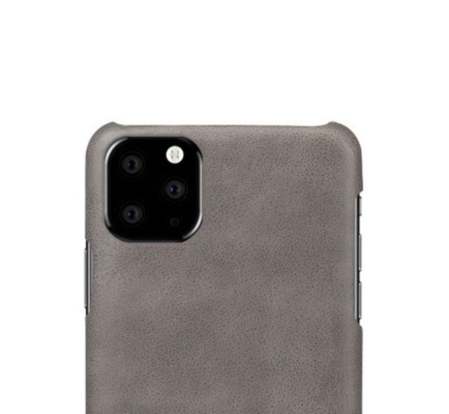 Shieldcase iPhone 12 Mini - 5.4 inch vintage leren hoesje (grijs)