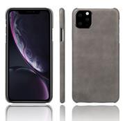 ShieldCase® iPhone 12 Mini - 5.4 inch vintage leren hoesje (grijs)