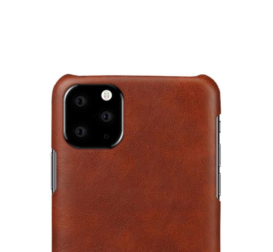 Shieldcase iPhone 12 Mini - 5.4 inch vintage leren hoesje (bruin)