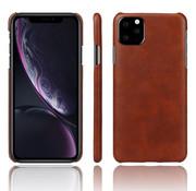 ShieldCase® iPhone 12 Mini - 5.4 inch vintage leren hoesje (bruin)