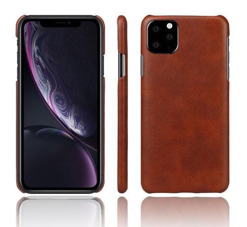ShieldCase® Shieldcase iPhone 12 Mini - 5.4 inch vintage leren hoesje (bruin)
