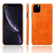 ShieldCase® iPhone 12 Mini - 5.4 inch vintage leren hoesje (oranje)
