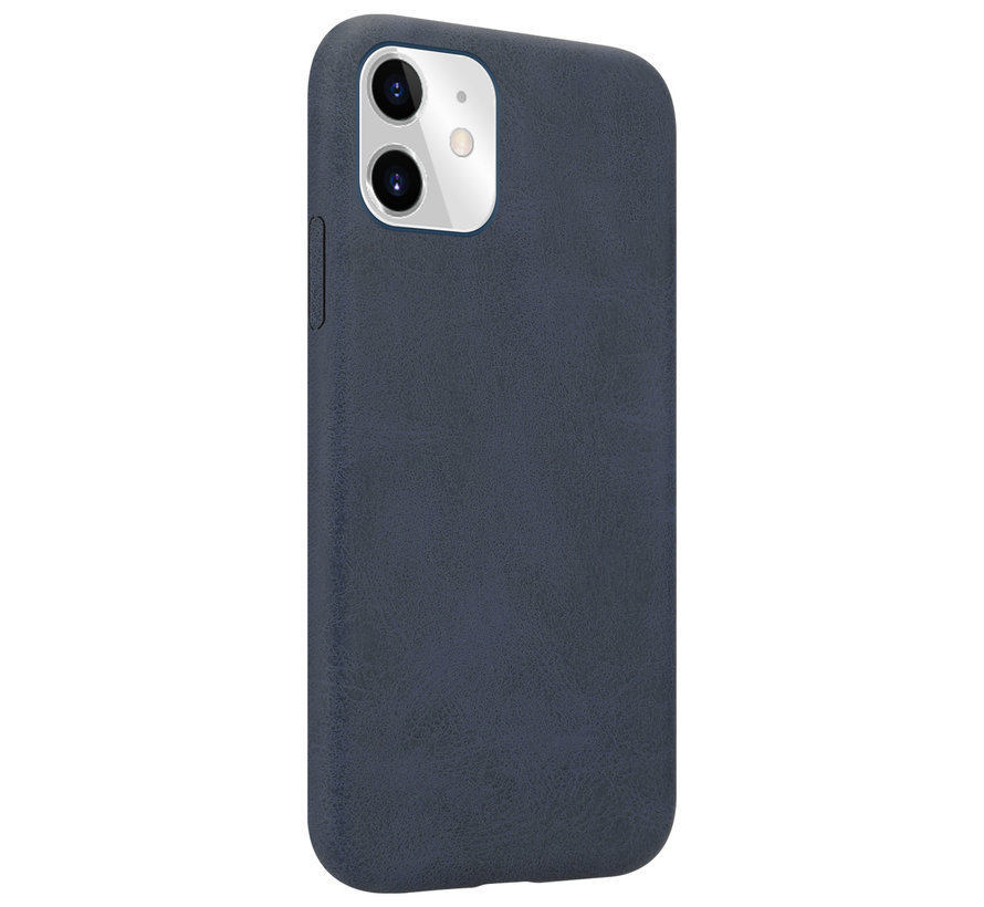 Shieldcase iPhone 12 Pro Max hoesje leer (zwart)