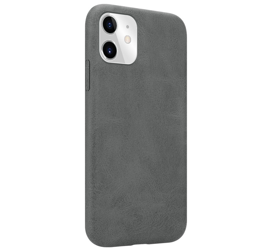 Shieldcase iPhone 12 Pro Max hoesje leer (grijs)