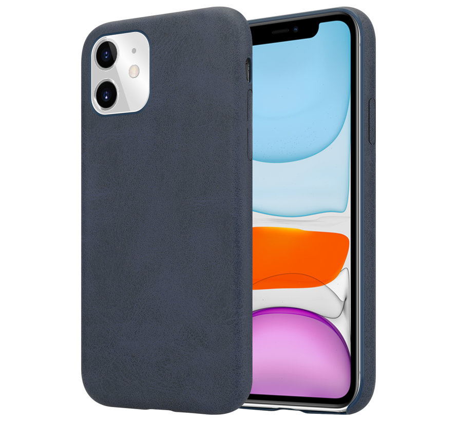 Shieldcase iPhone 12 Pro - 6.1 inch hoesje leer (zwart)