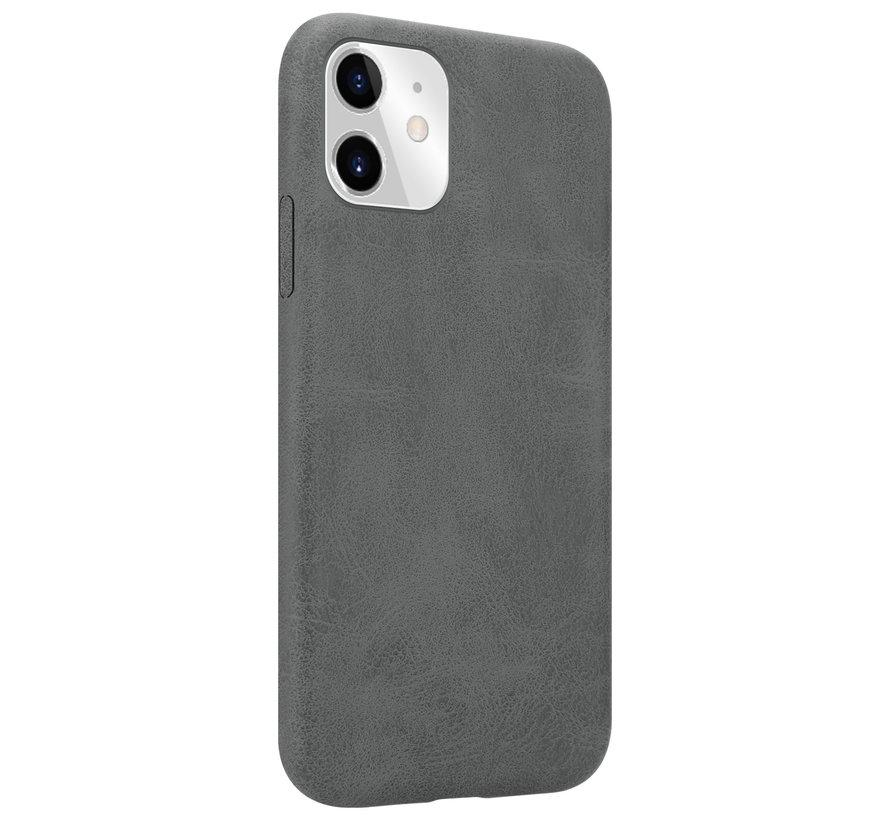 Shieldcase iPhone 12 Pro - 6.1 inch hoesje leer (grijs)