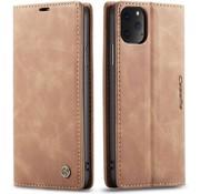 CaseMe Luxe bookcase iPhone 12 Pro - 6.1 inch (bruin)