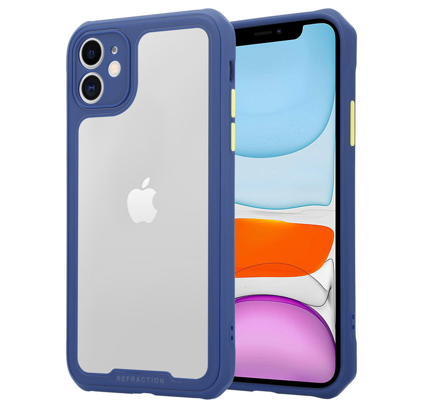 Shieldcase iPhone 12 Mini - 5.4 inch full protection case (paars/blauw)