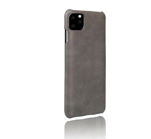 ShieldCase® Shieldcase iPhone 12 Pro - 6.1 inch vintage leren hoesje (grijs)