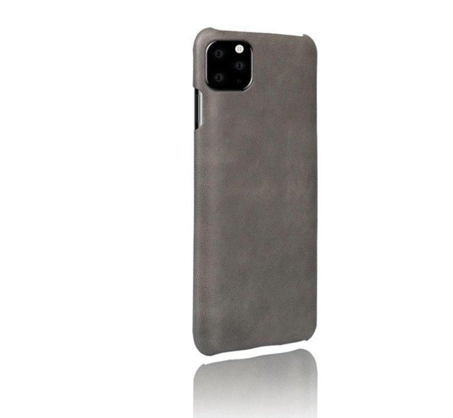 Shieldcase iPhone 12 Pro - 6.1 inch vintage leren hoesje (grijs)