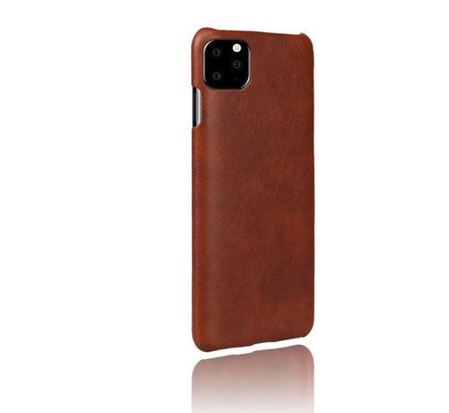ShieldCase® Shieldcase iPhone 12 Pro - 6.1 inch vintage leren hoesje (bruin)