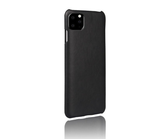 ShieldCase® Shieldcase iPhone 12 Pro - 6.1 inch vintage leren hoesje (zwart)