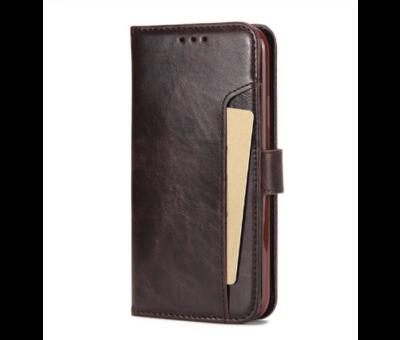 ShieldCase® ShieldCase iPhone 12 Pro - 6.1 inch uitneembare book case (bruin)