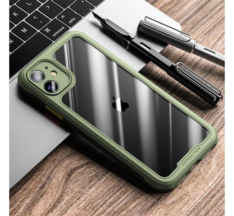 Shieldcase iPhone 12 Pro - 6.1 inch full protection case (groen)