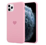 ShieldCase® LOVE Silicone case iPhone 11 Pro Max (roze)