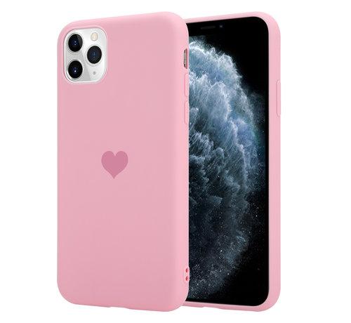 ShieldCase® ShieldCase LOVE Silicone case iPhone 11 Pro Max (roze)