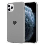 ShieldCase® LOVE Silicone case iPhone 11 Pro Max (grijs)