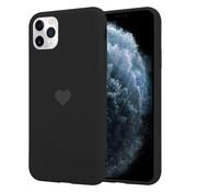 ShieldCase® LOVE Silicone case iPhone 11 Pro Max (zwart)