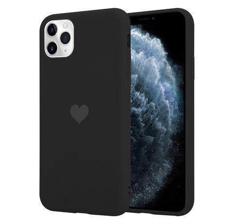 ShieldCase® ShieldCase LOVE Silicone case iPhone 11 Pro Max (zwart)