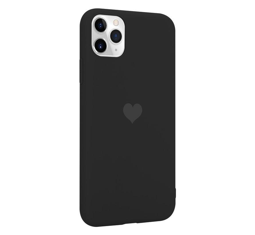 ShieldCase LOVE Silicone case iPhone 11 Pro Max (zwart)