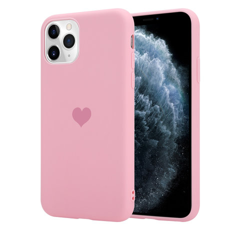 ShieldCase® ShieldCase LOVE Silicone case iPhone 11 Pro (roze)