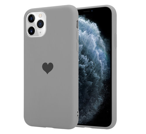 ShieldCase® ShieldCase LOVE Silicone case iPhone 11 Pro (grijs)
